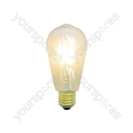 ST64 LED Filament Lamp with Amber Tinted Glass E27 4W Dimmable