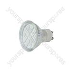 GU10 LED Lamps - 18 x LEDs - green - GU10-18GN