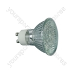 12 x LED GU10 Lamp, 230Vac - Warm White