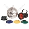 Disco Light Set 2 - (UK version) with 20cm mirrorball - DS-20