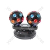 Dual Rotating Disco Balls - (UK version) Balls, Free Standing - DB2-112
