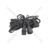 Outdoor String Light Rubber Extension Cable - 5m