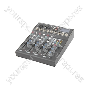CM6-LIVE compact mixer with delay + USB/SD player