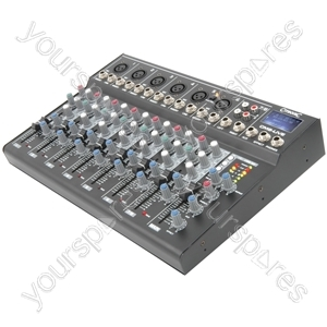 CM-live Compact Mixers with Delay + USB/SD Player - CM8-LIVE