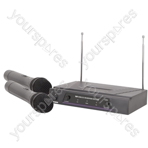 VHF dual handheld wireless system - 173.8 + 174.8MHz