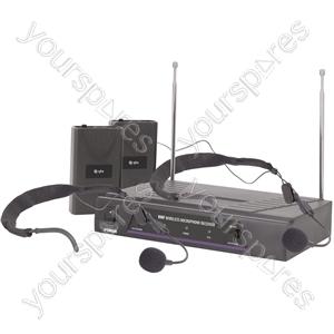 VHF dual neckband wireless system - 173.8 + 174.8MHz