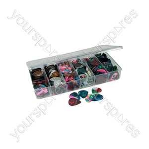 Assorted Guitar Plectrums - 600 Pieces - Set - 600P