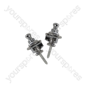 Set of 2 strap locks for guitar - black