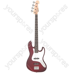 CAB42 Electric Bass Guitars - Wine Red Burst - CAB42-WRS