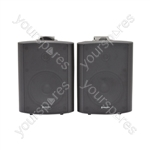 "5.25"" Active Stereo Speaker Set - Amplified - black - BC5A-B"