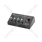 4 Channel Microphone Mixer - 4-Channel - MM4