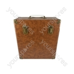 Vinyl Record Case - Brown
