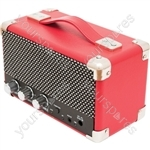 Mini Westwood - Retro Style Bluetooth® Speaker - Small Red