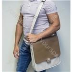 GPO Record Bag - Cream & Tan