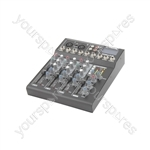 CM4-LIVE compact mixer with delay + USB/SD player