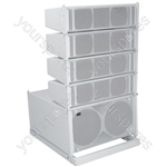 Compact Active Line Array Speaker System - 300W + 300W rms - CLA-300 System, 300W, White - CLA-300W