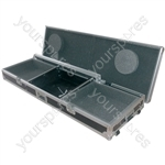 """Flightcase for 8U 19"""" mixer and 2 x CD players/turntable"""
