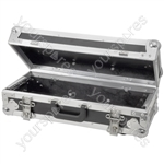 Tilting 3U rack case for mixer/media player