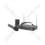 VHN2 Handheld & Neckband VHF Wireless System - + 173.8 + 174.8MHz