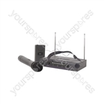VHN2 Handheld & Neckband VHF Wireless System - + 174.1 + 175.0MHz
