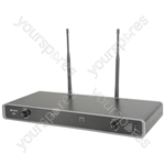 Dual UHF Wireless Beltpack System - NU2 Neckband/Lapel 863.8MHz + 864.8MHz - NU2-N