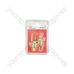 Strap Locks for Guitar - Set of 2 - gold - SL2-G