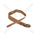 Heavy Duty Leather Guitar Straps - Natural - STP-LNT1