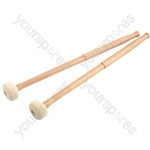Percussion mallets - hard felt