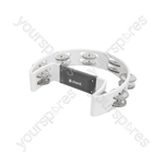 Tambourines - Single D - white - TAMB-SD-WH