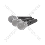 DM03X Set of 3 Dynamic Microphones