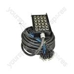 Professional XLR Stage Boxes - 16:4 Snake 30.0m - SB16:4:30