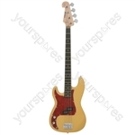 CAB1 Electric Bass Guitar - CAB41/LH Butterscotch - CAB41/LH-BTHB
