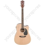 CW36CE/LH Electro-acoustic guitar - L/H natural