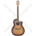 CMB4CE Bowlback Electro-acoustic Guitar - sunburst - CMB4CE-SB