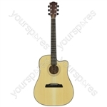 Stanza Series Electro-acoustic Guitars - STW4CE western cutaway
