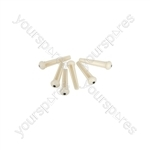 Bridge Pins - Set of 6 - White - B-PINS-WH