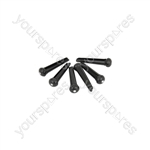 Bridge Pins - Set of 6 - Black - B-PINS-BK