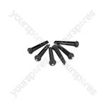 Bridge Pins - Set of 6 - Black - B-PINS-BK