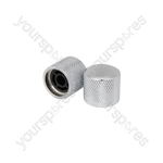 Knurled Control Knobs - Pair - Ctrl Chrome - CTE-CTRLKNBS-CR
