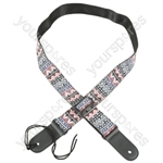 Nylon Webbing Ukulele Straps - Red-White-Blue - US2-RWB