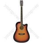 CW26CE Electro Western Guitar - - sunburst - CW26CE-SB