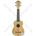Native Series Ukuleles - Soprano Spalted Maple