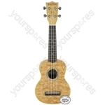 Native Series Ukuleles - Soprano Curly Ash