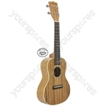 Native Series Ukuleles - Concert Zebrano