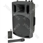 """QXAV Series Active Speakers with Built-in VHF Receiver - QX12AV VHF, 12"""" 200W"""