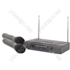 Dual Handheld Microphone VHF Wireless System - - 174.1 + 175.0MHz - VH2
