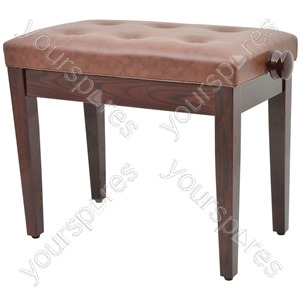 Piano Benches - - brown (without compartment) - PB660H-BR