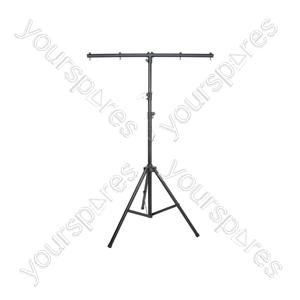 Lightweight Lighting Stand with T-bar - Black aluminium 3.5m max - LT02