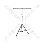 Lightweight Lighting Stand with T-bar - Black aluminium 3.5m max - LT02