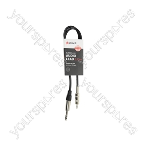 Classic 3.5mm TRS Jack to 6.3mm TRS Jack Leads - 6.35mm-3.5mm 0.75m - S6-3J075